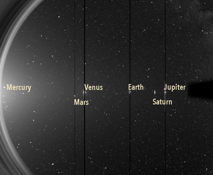 Космічний апарат NASA STEREO помітив шість планет 7 червня 2020