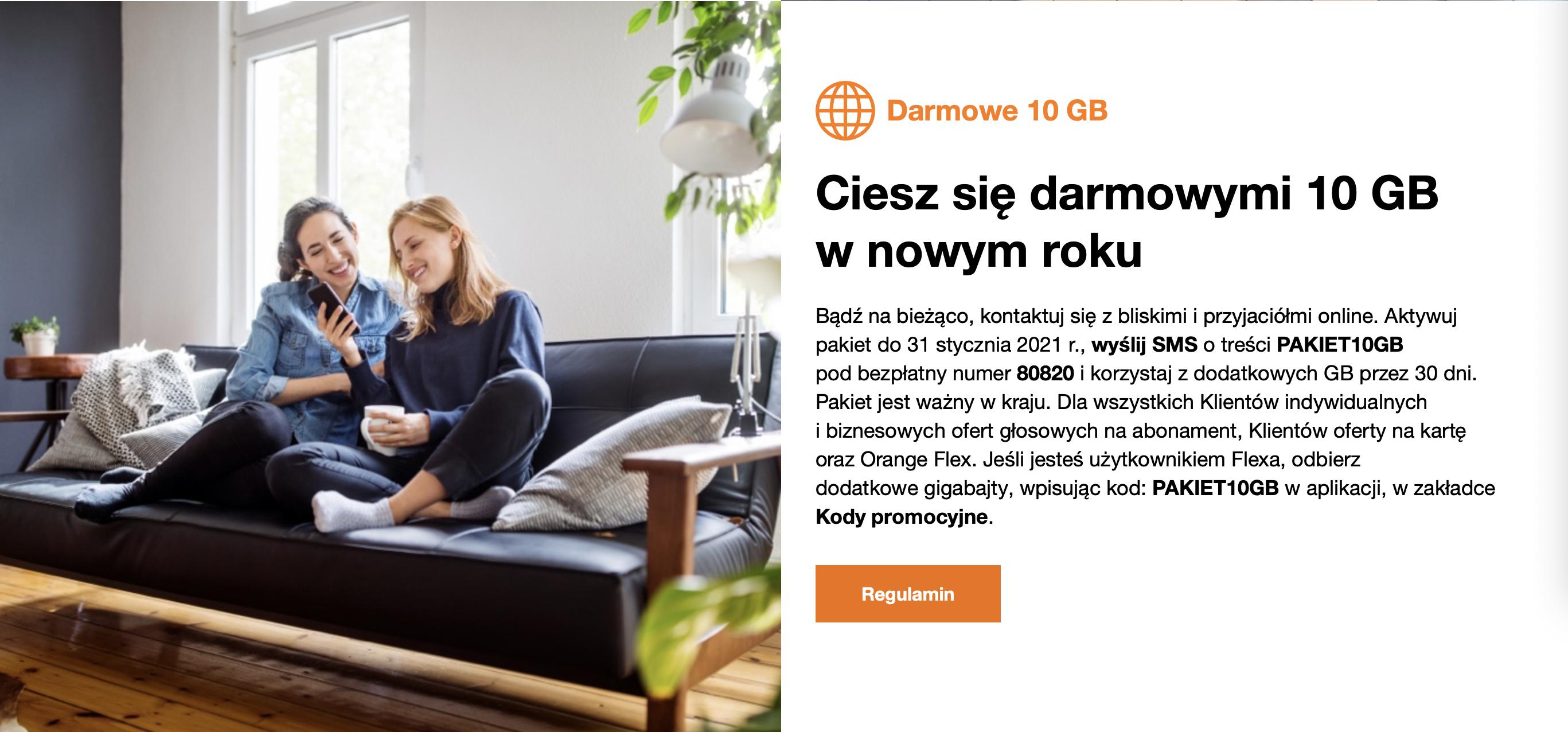 Jak otrzymać darmowe 10 GB użytkownikom nju mobile i Orange?
