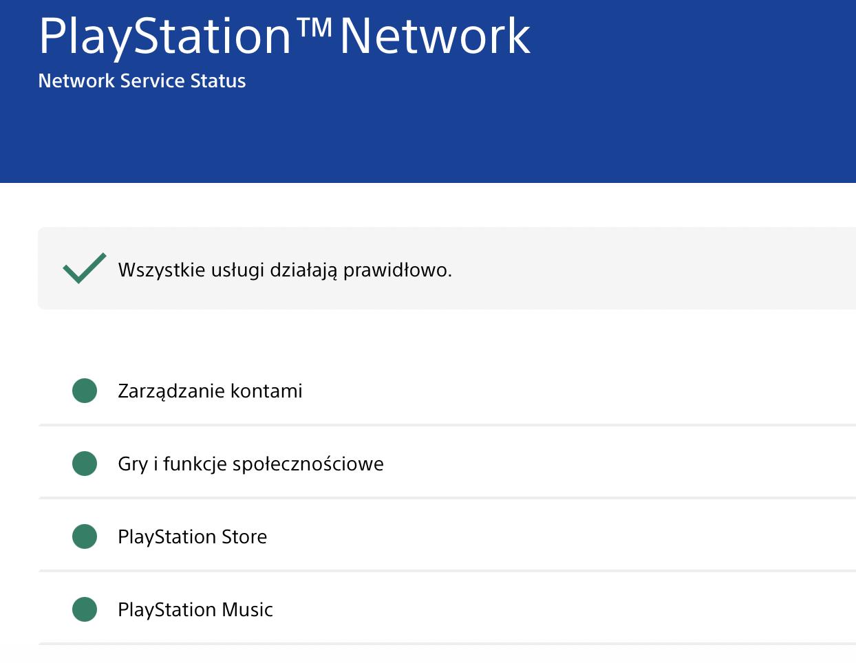Jeśli masz jakiekolwiek problemy z usługami online lub grami dla wielu graczy, nie panikuj, ale najpierw sprawdź stan usługi PSN.