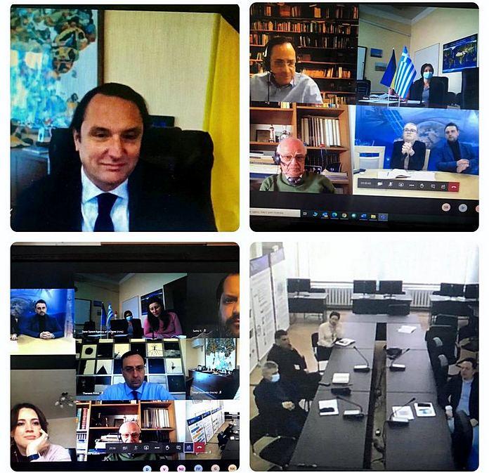онлайн-конференція між Україною та Грецією