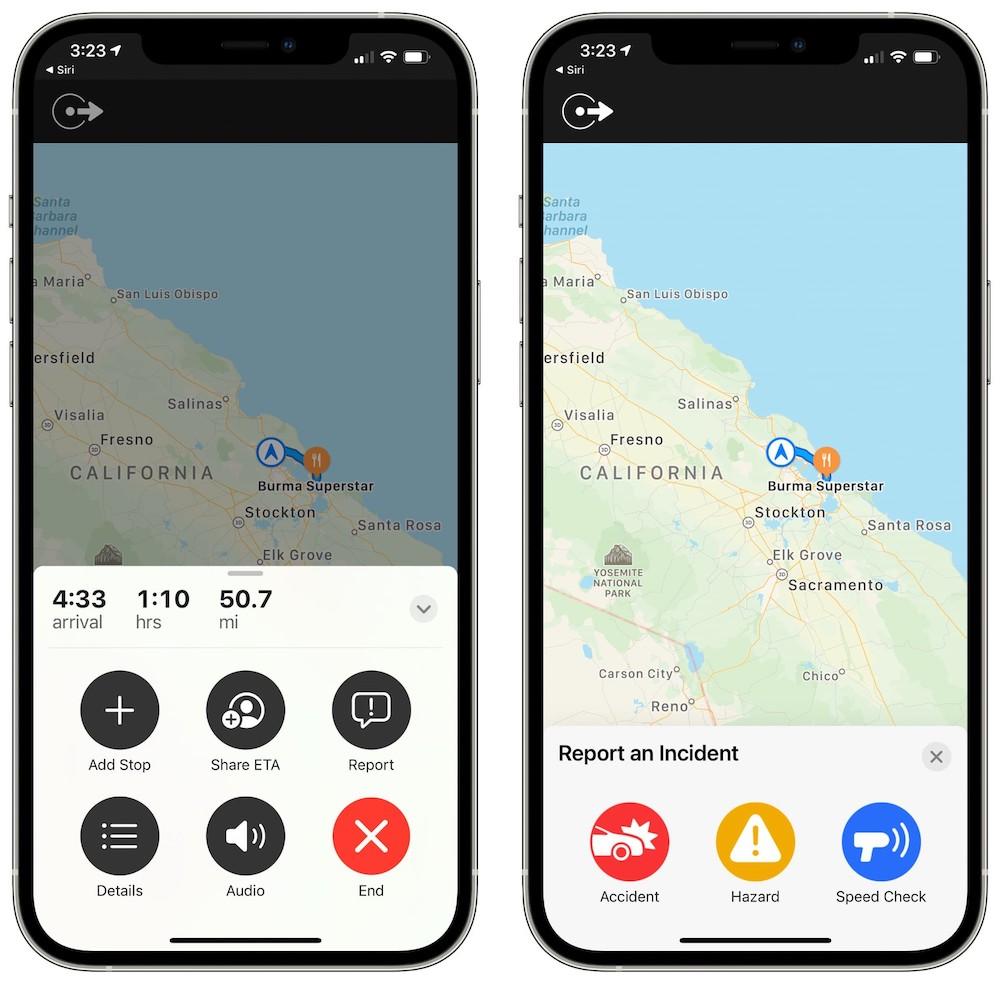 Apple Maps iOS 14.5 Report Accident