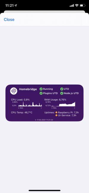 Homebridge Status Configuration
