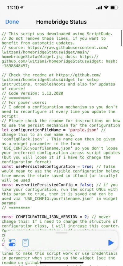 Raspberry Pi Homebridge Status Configuration
