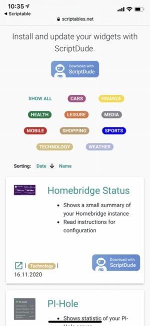 Homebridge Status Installation