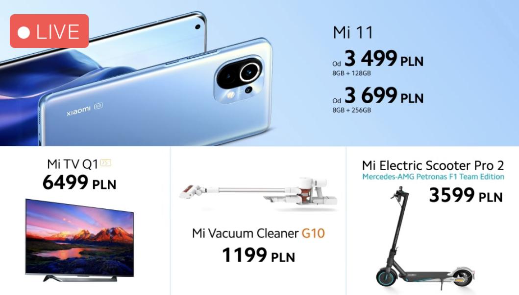 Przedsprzedaż Xiaomi Mi 11 odbędzie się wraz z atrakcyjnymi prezentami
