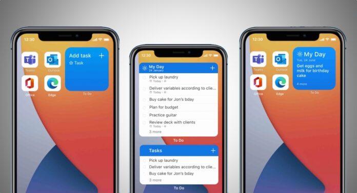 Microsoft To Do Widgets iOS 14