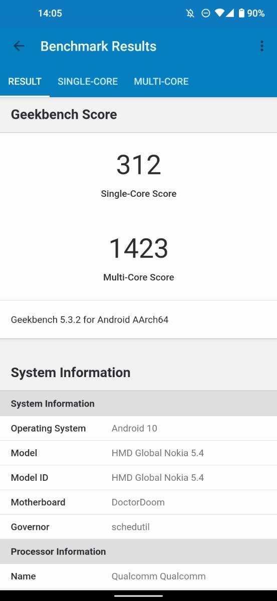 Nokia 5.4 Benchmarks Test