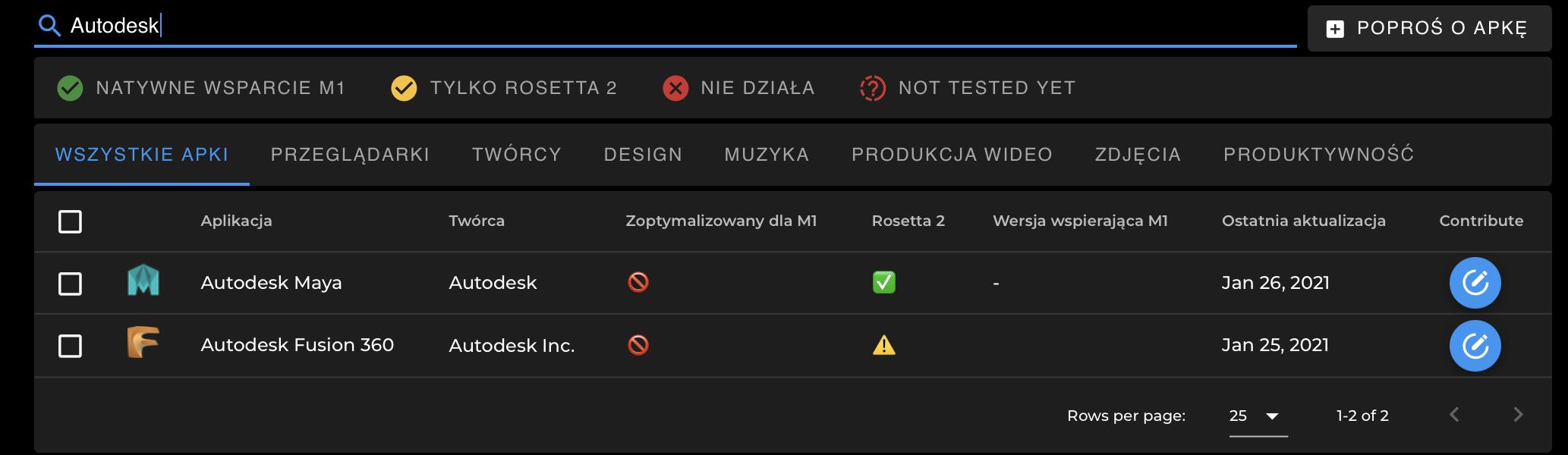 ednak użytkownicy produktów Autodesk nie powinni się spieszyć, bo Maya, która została pokazana na WWDC 2020, nadal nie działa na M1 natywnie, tylko poprzez emulator.
