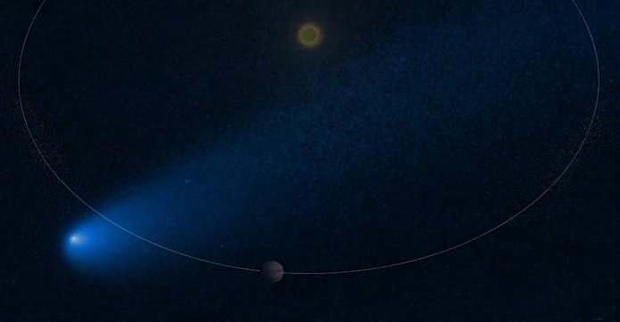 комета біля Юпітера
