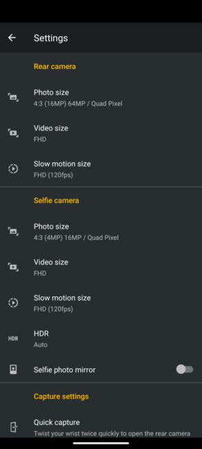 Moto G9 Plus camera
