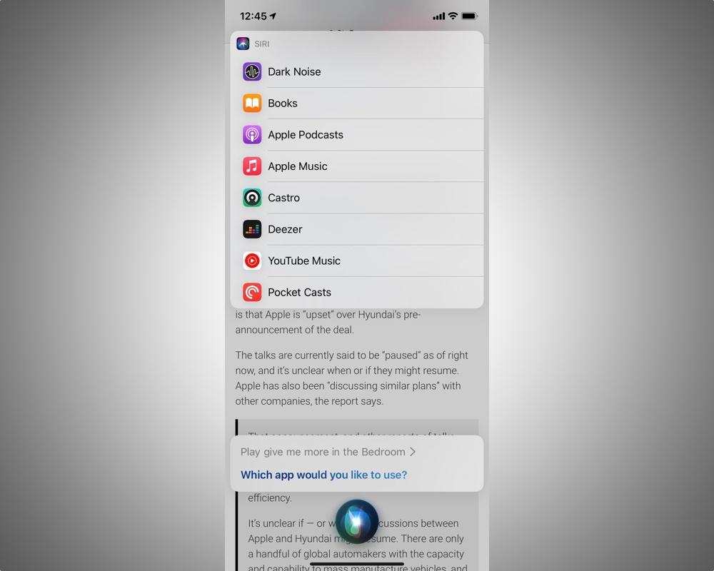 Siri iOS 14.5 beta default music app