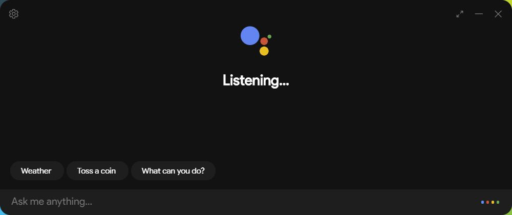 Unofficial Google Assistant Listening