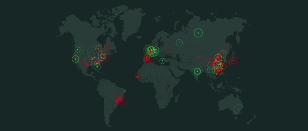 World Map Globe DDoS