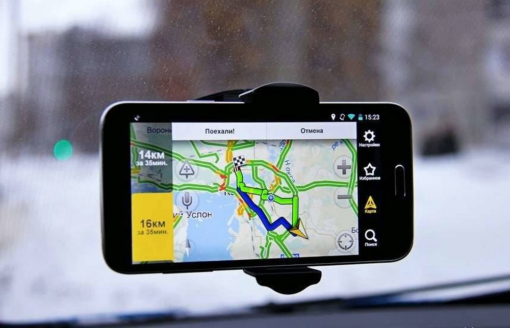 телефон в роли навигаторa
