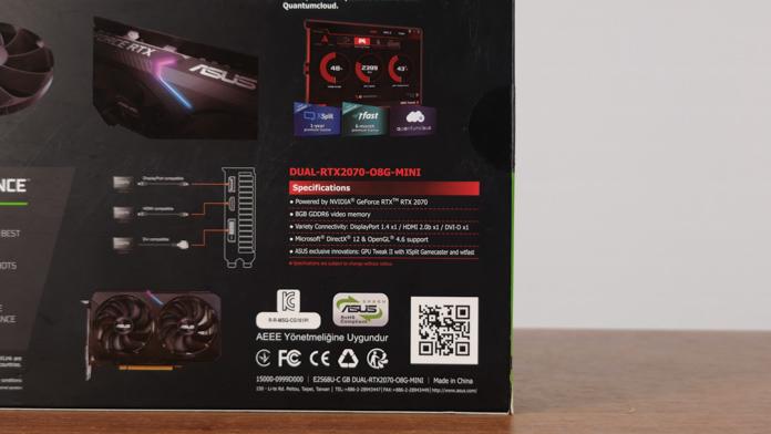 ASUS RTX 2070 Dual Mini OC