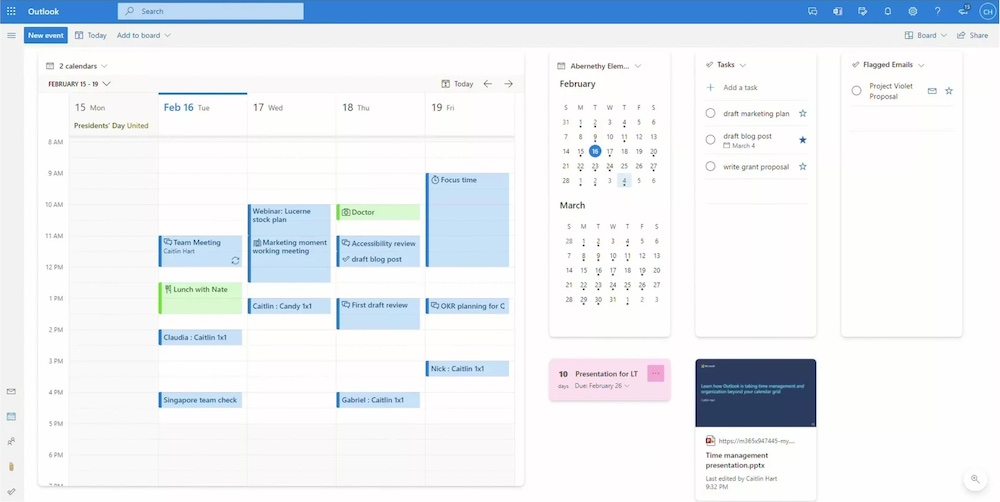 Microsoft Outlook Board View