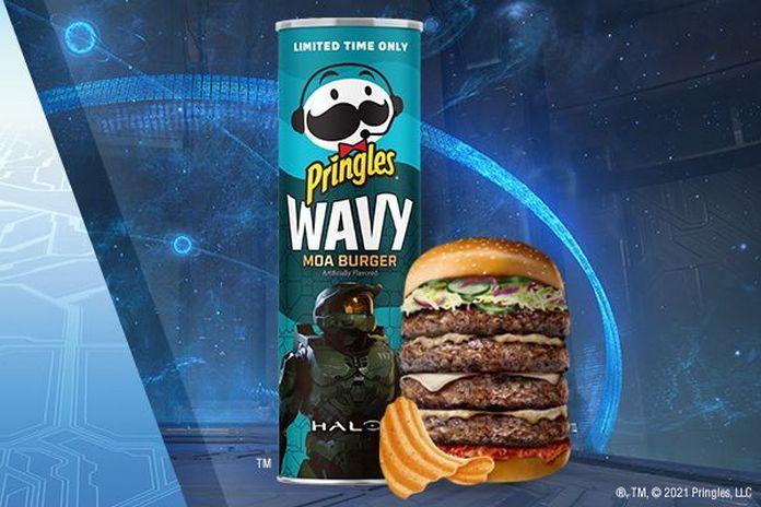 Halo Pringles moa burger