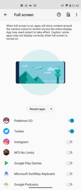 Moto G 5G Plus screen