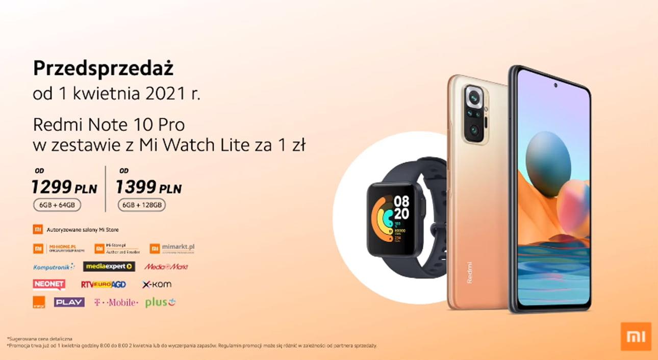 Przedsprzedaż Redmi Note 10 Pro