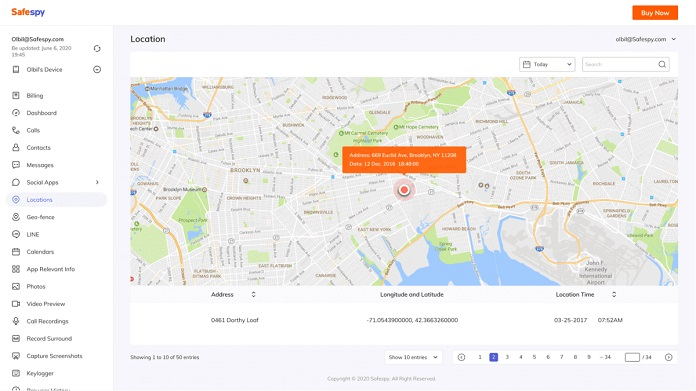 Safespy: Location Tracker