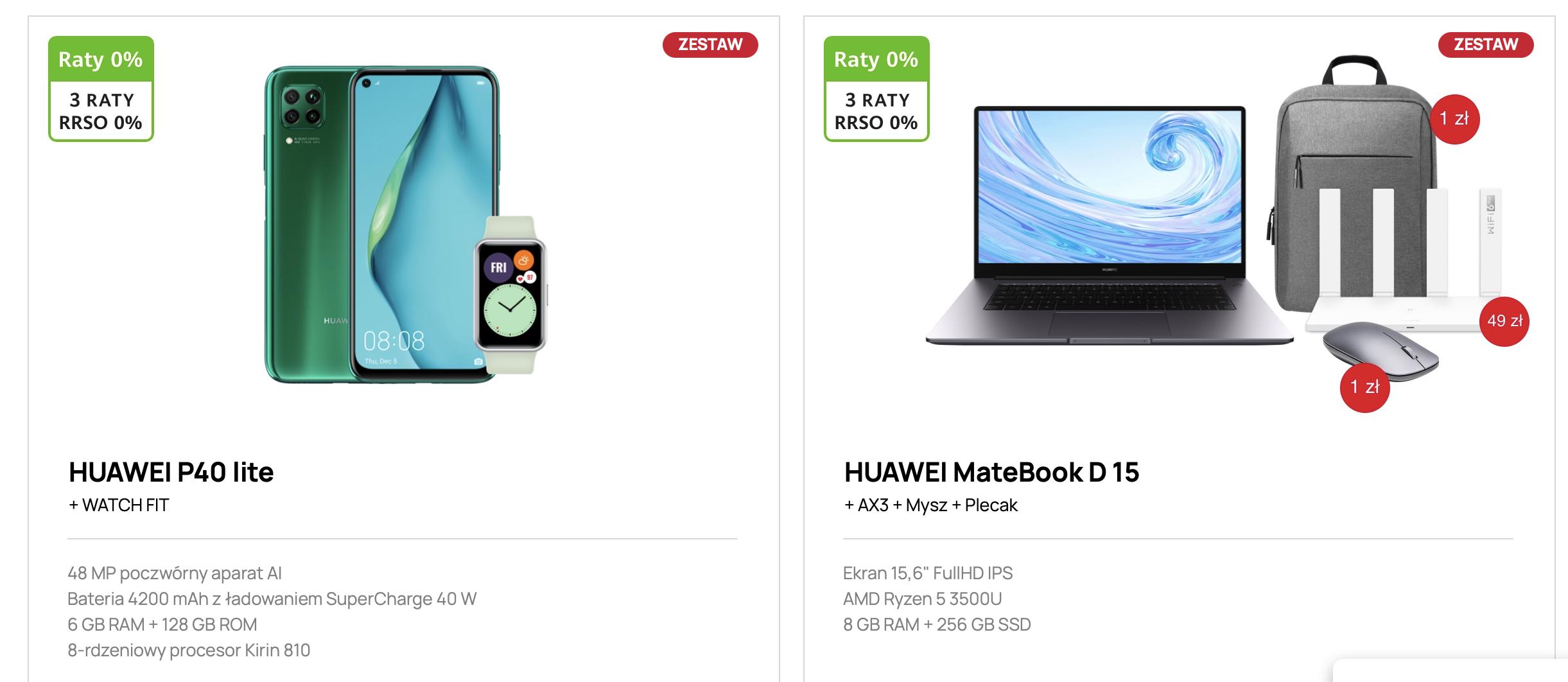 Huawei oferuje promocyjne zestawy