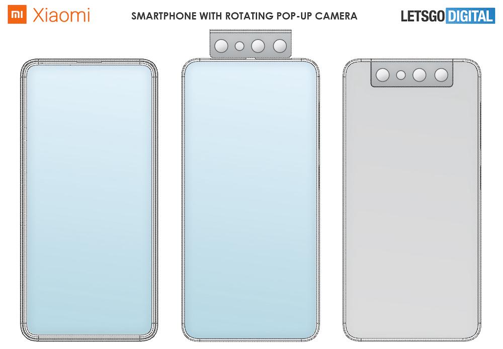 Xiaomi Rotating Pop-Up Camera Patent