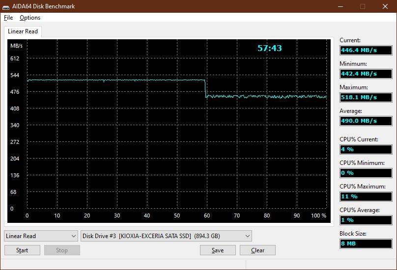 Kioxia Exceria 960GB