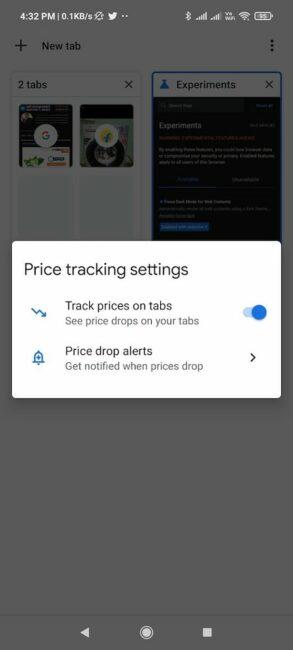 Google Chrome 90 Tab Options