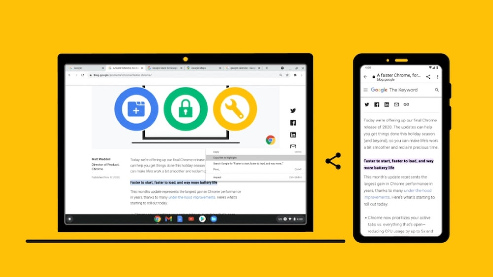 Google Chrome link to highlight