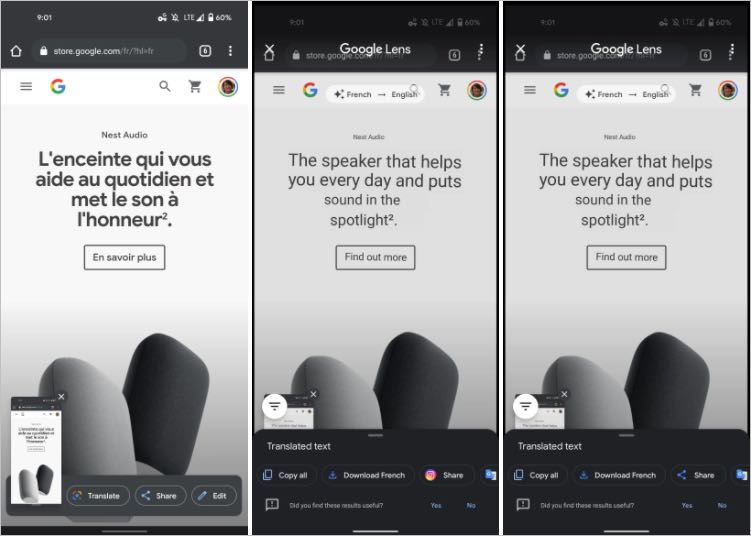 Google Lens Screenshot Translator