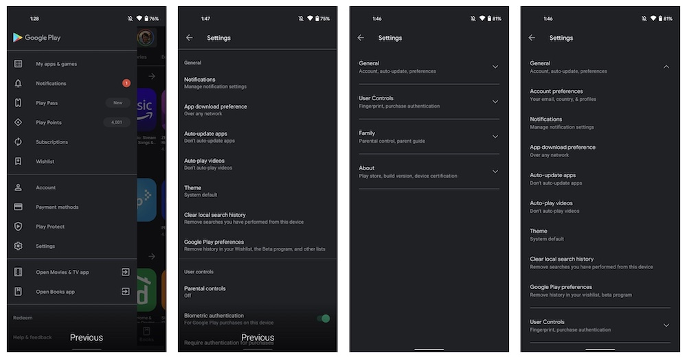 Google Play new design 2021