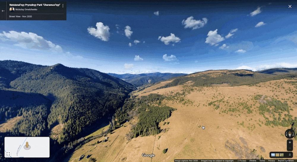Google Ukraine National Parks