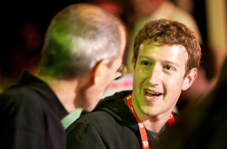 Mark Zuckerberg Steve Jobs