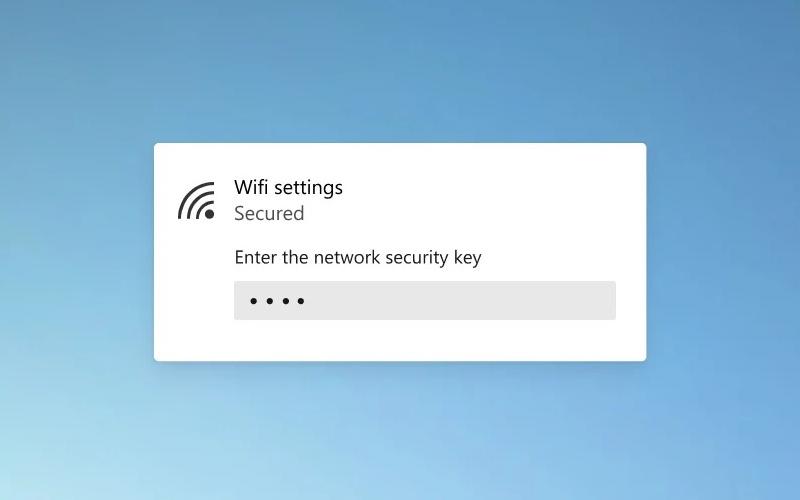 Microsoft Windows 10 WiFi mockup