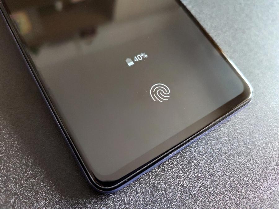 Samsung Galaxy A72 сканер отпечатков