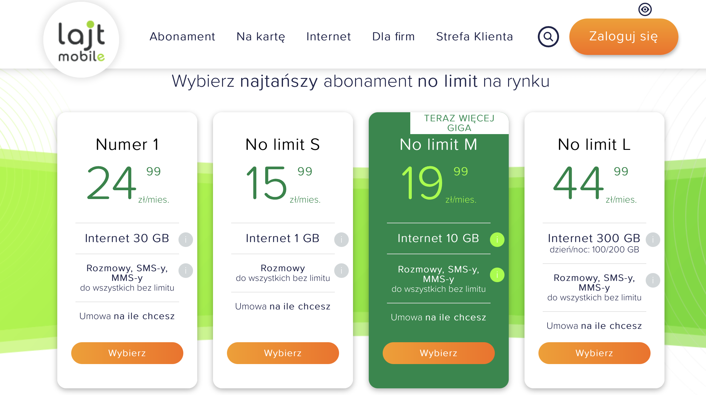 No Limit M od lajt mobile