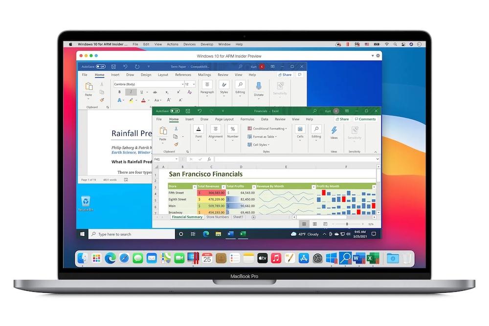 Windows 10 Apple Mac M1