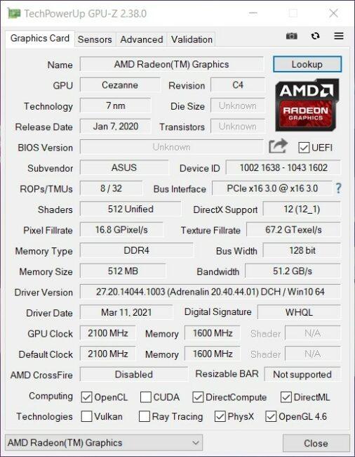 ASUS ROG Strix SCAR 15 G533 - Integrated GPU