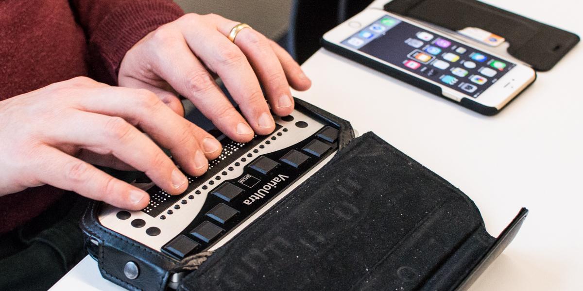 Дисплей Брайля с клавишами ввода