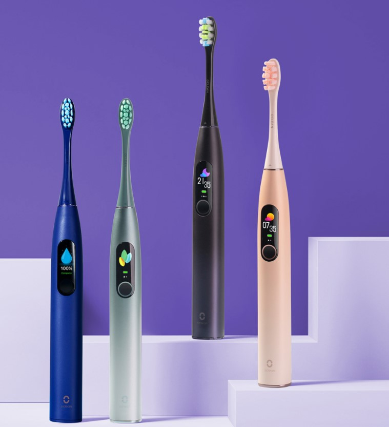 Oclean X Pro Sonic Toothbrush Colors