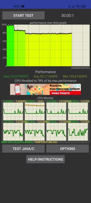 Xiaomi Mi 11 - CPU Throttling Test