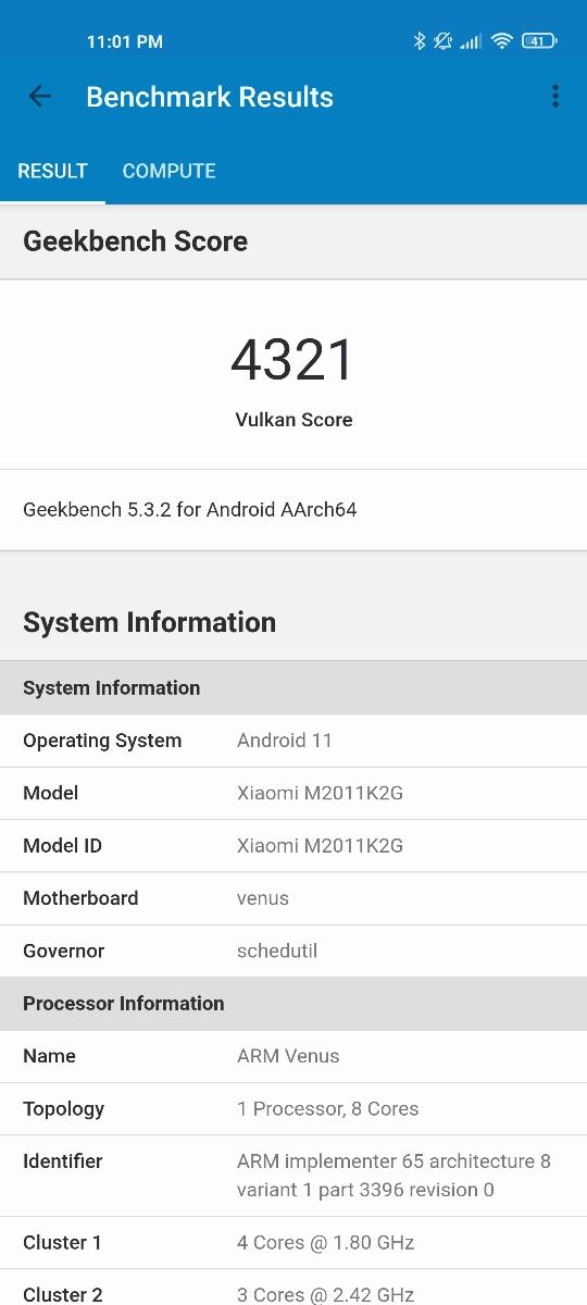 Xiaomi Mi 11 - Benchmarks