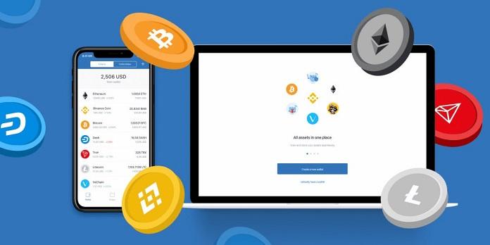 Application-based bitcoin wallet