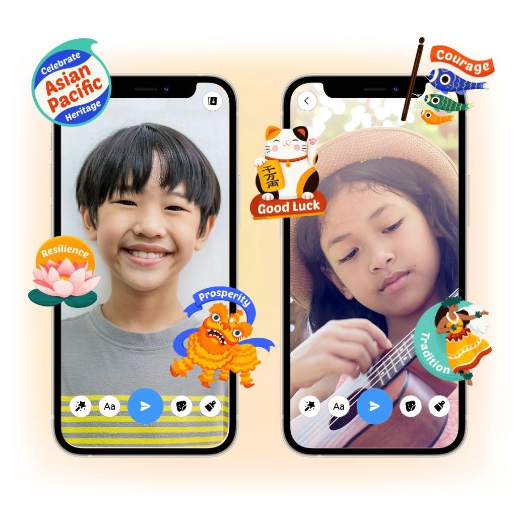 Messenger Kids camera stickers