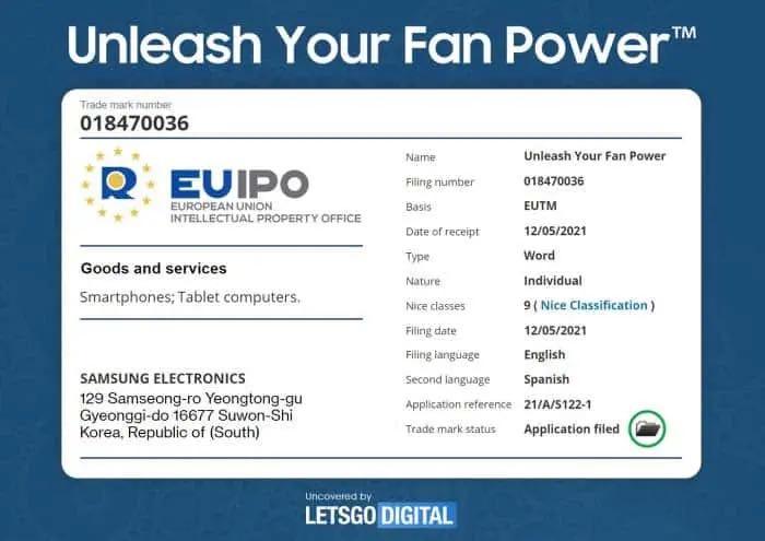 Samsung Unleash Your Fan Power