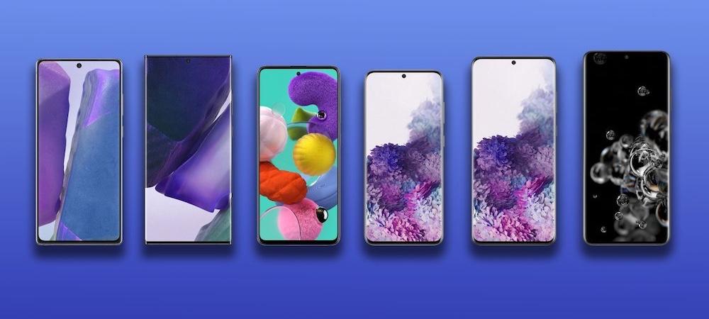 Samsung smartphones lineup 2020