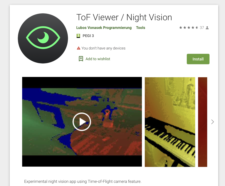 Night Vision tof app