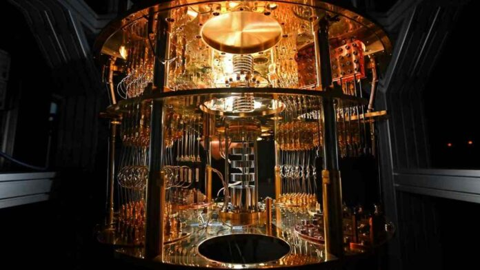 A dilution refrigerator for cooling a quantum computer