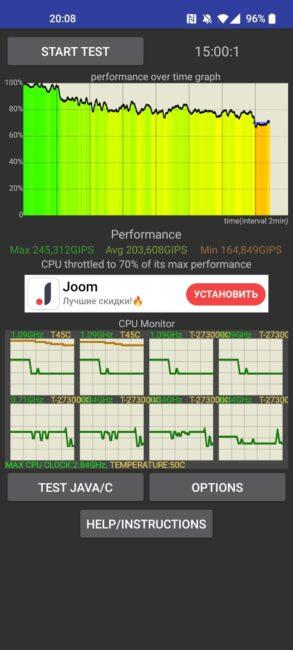 OnePlus 9 - CPU Throttling Test