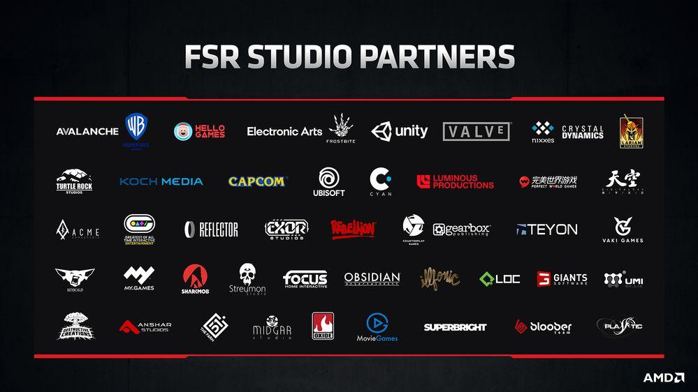 AMD FidelityFX Super Resolution Studio Partners